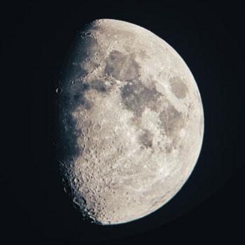 Луна в обычный телескоп